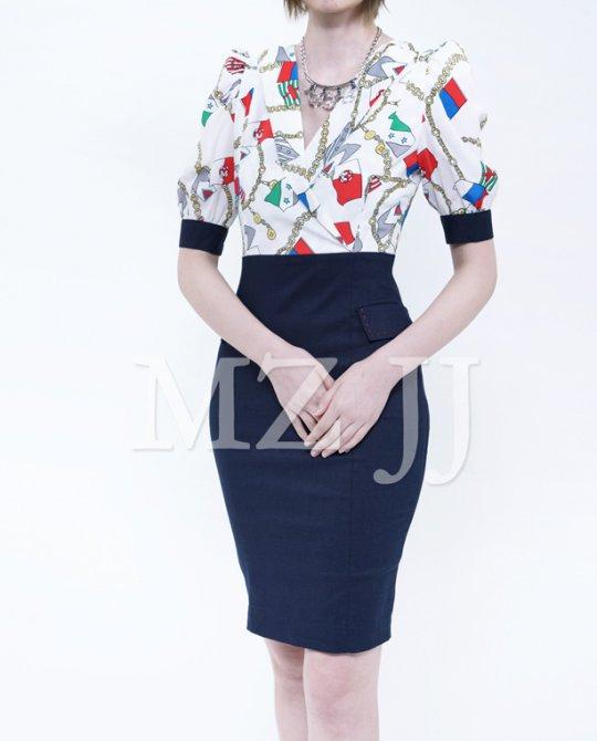 OP12883WH Dress