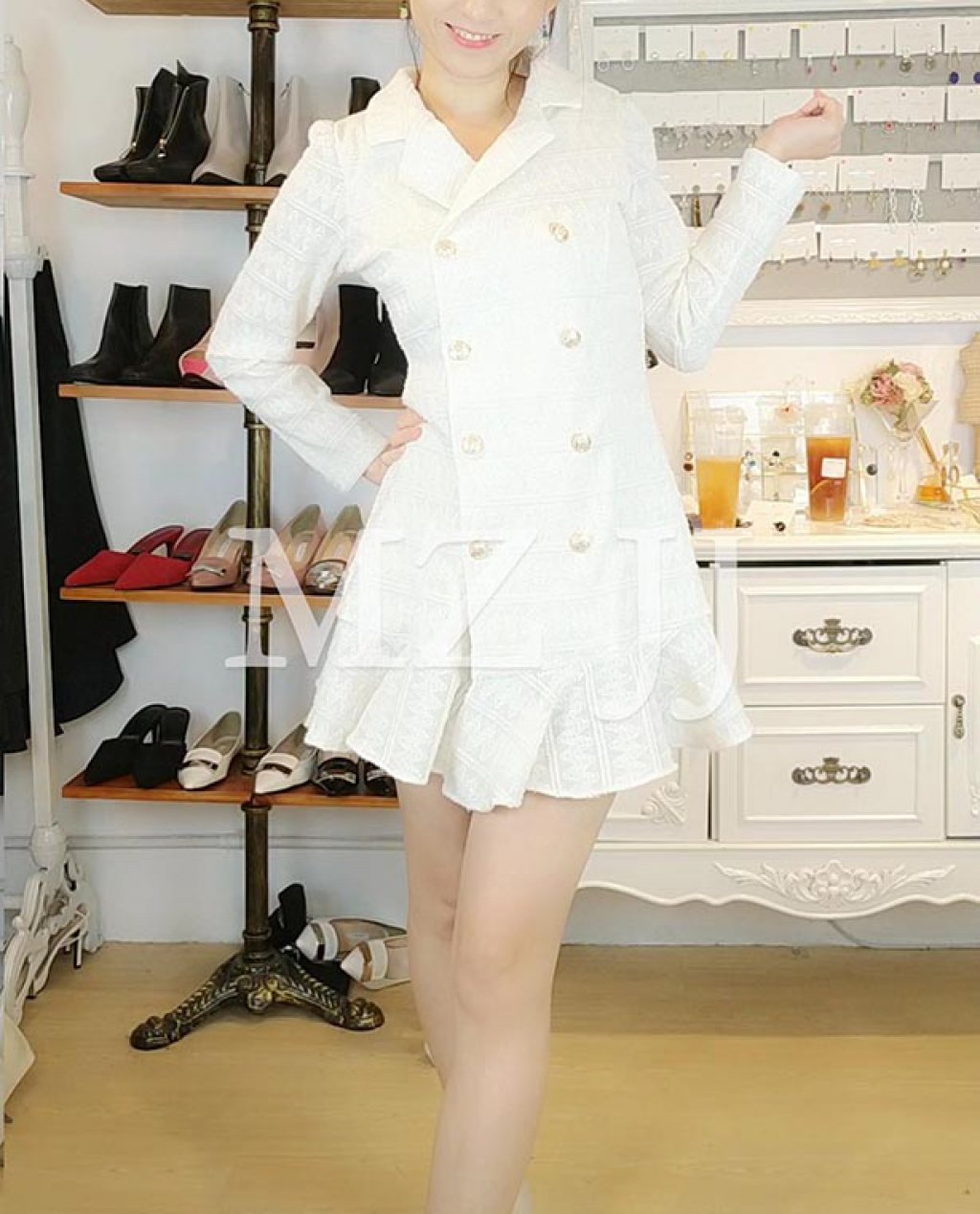 OP14073WH Dress